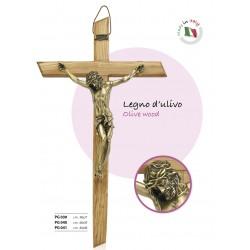 Cross in olive wood, body...