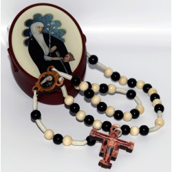 MZ011 Wooden rosary (walnut...