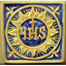 Ceramic tile with a symbol...