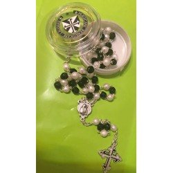 6 mm crystal rosary with...