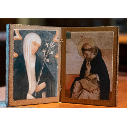 Diptych Santa Caterina and...