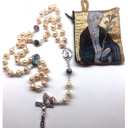 Mother pearl rosary and...