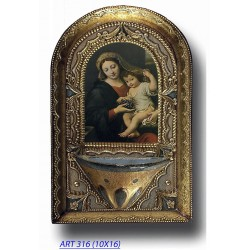 Holy water font Madonna...
