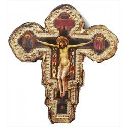 Croce Pisana in legno massello