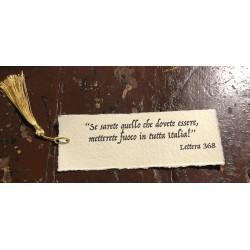 Handmade Cotton Paper Bookmark